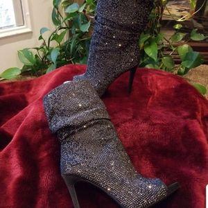 Jessica Simpson Glitter Booties